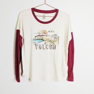 Volcom long sleeve oversized shirt